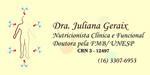 Dra. Juliana Geraix - Nutricionista